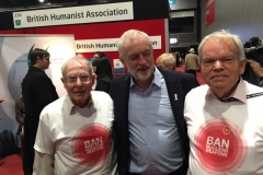 Labour Party Conference 2017. LAP volunteers with Jeremy Corbyn