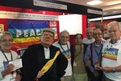 Labour Party Conference 2017. Trump visits Stand 66